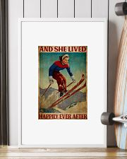 Skiing and she lived happily ever after 24x36 Poster lifestyle-poster-4