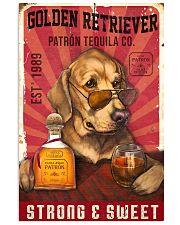 Golden Retriever Patrón Tequila 21-2 TNT 24x36 Poster front