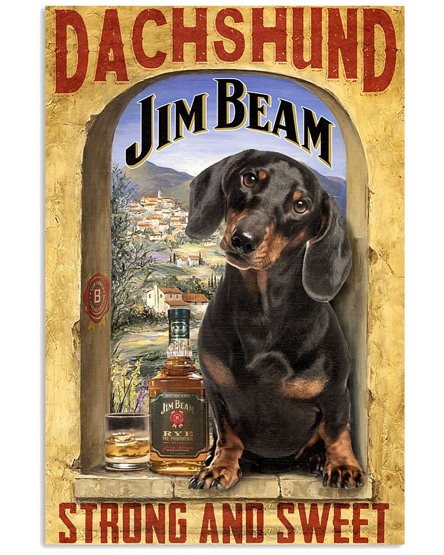 Dachshund Dog Jim Beam Company 0403 VT 24x36 Poster