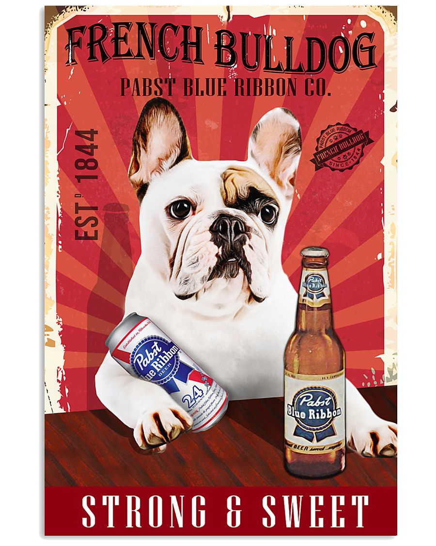 French Bulldog Pabst Blue Ribbon 20-2 TNT 24x36 Poster