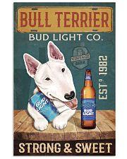 Bull Terrier Dog Bud Light Company 1902-01-VT 24x36 Poster front
