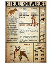 Pitbull Knowledge 24x36 Poster front
