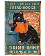 Cat that what I do I read books I drink wine  11x17 Poster front