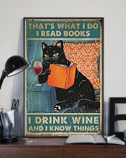 Cat that what I do I read books I drink wine  11x17 Poster lifestyle-poster-2