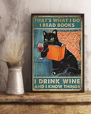 Cat that what I do I read books I drink wine  11x17 Poster lifestyle-poster-3