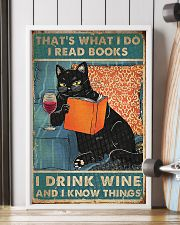 Cat that what I do I read books I drink wine  11x17 Poster lifestyle-poster-4