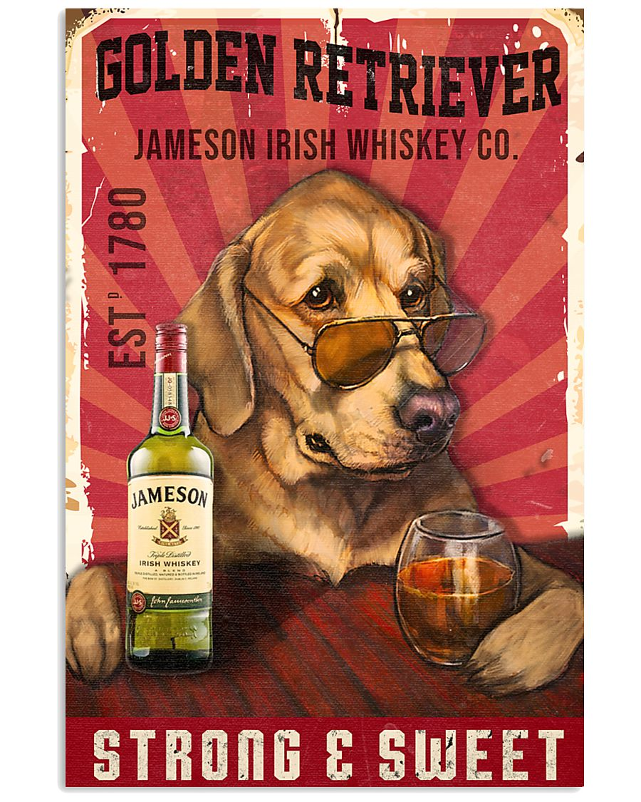 Golden Retriever Jameson Irish Whiskey 21-2 TNT 11x17 Poster