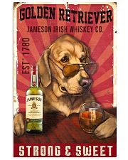 Golden Retriever Jameson Irish Whiskey 21-2 TNT 11x17 Poster front