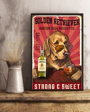 Golden Retriever Jameson Irish Whiskey 21-2 TNT 11x17 Poster lifestyle-poster-3
