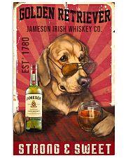 Golden Retriever Jameson Irish Whiskey 21-2 TNT 24x36 Poster front