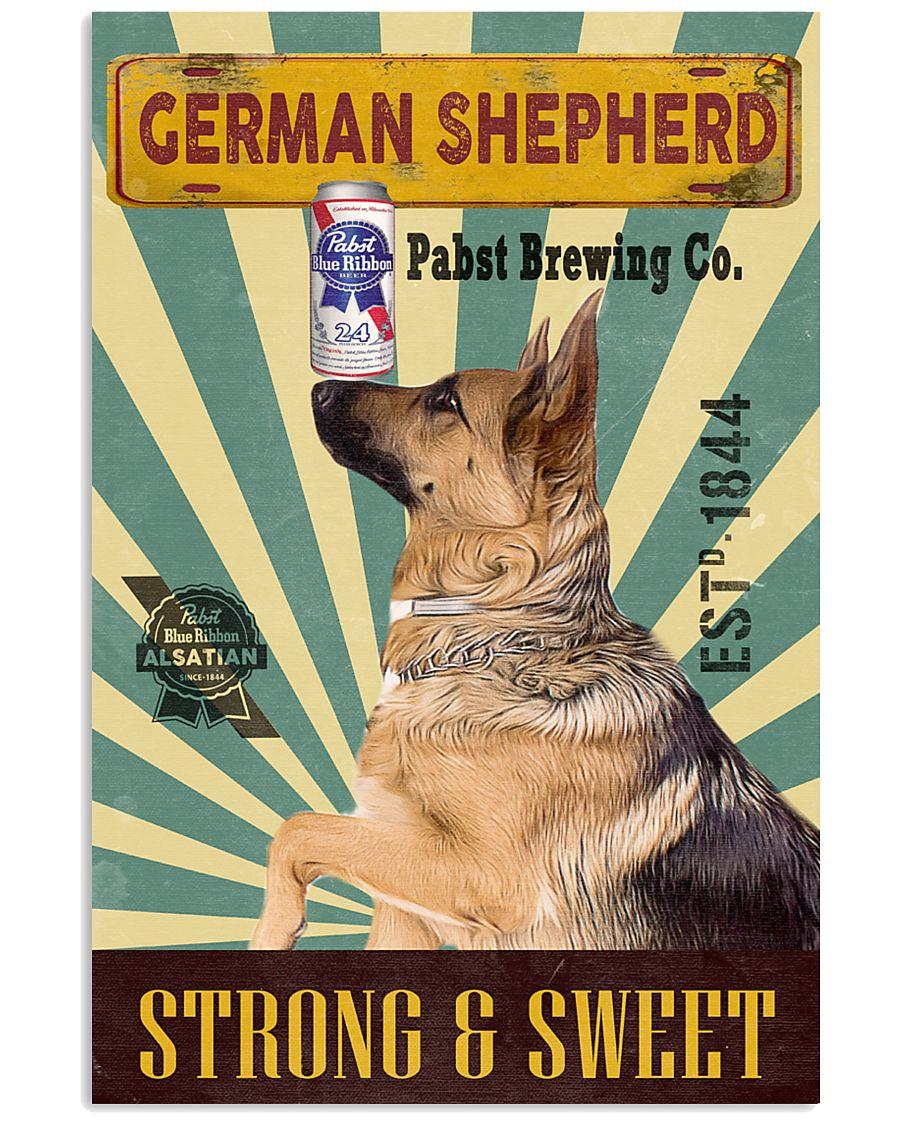 German Shepherd Dog pabst blue ribbon poster 20-02 24x36 Poster