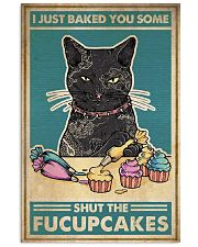 Retro Cat make cakes 24x36 Poster front