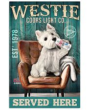 West Highland White Terrier Dog Coors Light1902TNT 24x36 Poster front