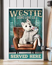 West Highland White Terrier Dog Coors Light1902TNT 24x36 Poster lifestyle-poster-4