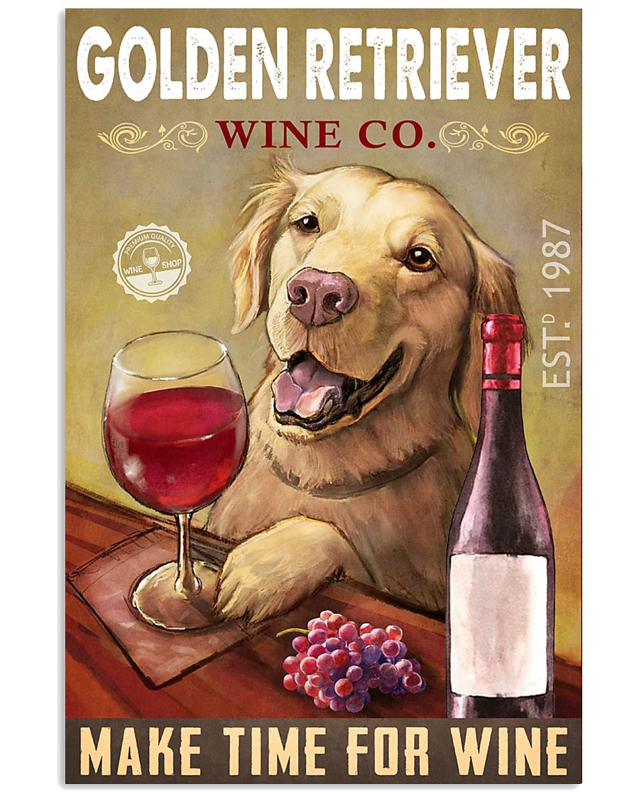 Golden Retriever Wine Company 2404 24x36 Poster