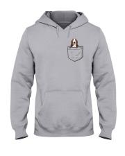 Pocket Basset Hound Hooded Sweatshirt thumbnail