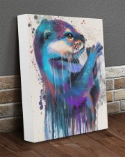 Otter Lovers 11x14 Gallery Wrapped Canvas Prints aos-canvas-pgw-11x14-lifestyle-front-10