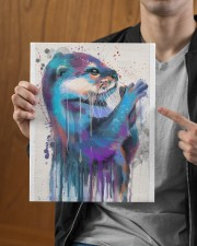 Otter Lovers 11x14 Gallery Wrapped Canvas Prints aos-canvas-pgw-11x14-lifestyle-front-30