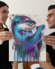 Otter Lovers 11x14 Gallery Wrapped Canvas Prints aos-canvas-pgw-11x14-lifestyle-front-37