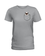 Pocket Pug Ladies T-Shirt tile