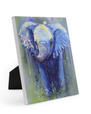 Poster Canvas Elephant 8x10 Easel-Back Gallery Wrapped Canvas thumbnail