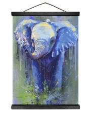 Poster Canvas Elephant 12x16 Black Hanging Canvas thumbnail
