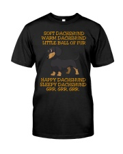 warm Dachshund Little Ball Of Fur Classic T-Shirt thumbnail