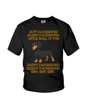 warm Dachshund Little Ball Of Fur Youth T-Shirt thumbnail
