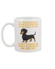 warm Dachshund Little Ball Of Fur Mug back
