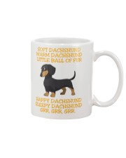warm Dachshund Little Ball Of Fur Mug front