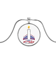 Lititz 201st 4th Of July Metallic Circle Necklace thumbnail