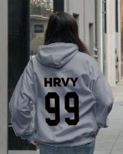 HRVY 99 HASTA LUEGO HOODIE T-SHIRT Hooded Sweatshirt lifestyle-unisex-hoodie-back-2