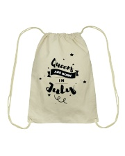 Queens Are Born In July Drawstring Bag thumbnail