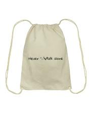 Never Walk Alone Drawstring Bag thumbnail