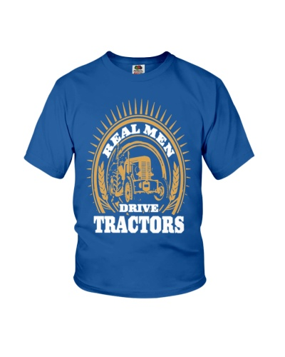 REAL MEN DRIVE TRACTOR