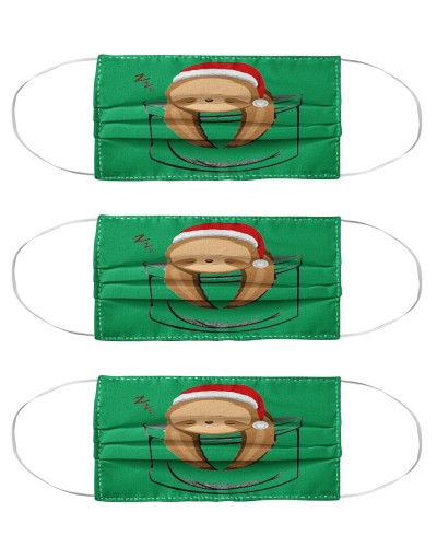 Lazy sloth in the pocket Christmas