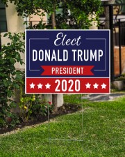 Elect Donald Trump 2020 campaign yard side 24x18 Yard Sign aos-yard-sign-24x18-lifestyle-front-06