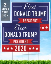Elect Donald Trump 2020 campaign yard side 24x18 Yard Sign aos-yard-sign-24x18-lifestyle-front-32