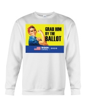 Anti Trump grab him by the ballot Biden Harris Crewneck Sweatshirt thumbnail
