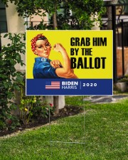 Anti Trump grab him by the ballot Biden Harris 24x18 Yard Sign aos-yard-sign-24x18-lifestyle-front-06