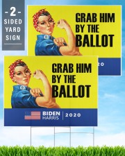 Anti Trump grab him by the ballot Biden Harris 24x18 Yard Sign aos-yard-sign-24x18-lifestyle-front-32