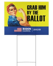 Anti Trump grab him by the ballot Biden Harris 24x18 Yard Sign back