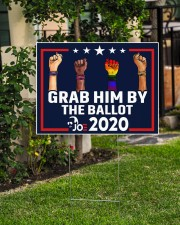 All skins grab him by the ballot yard sign 24x18 Yard Sign aos-yard-sign-24x18-lifestyle-front-06