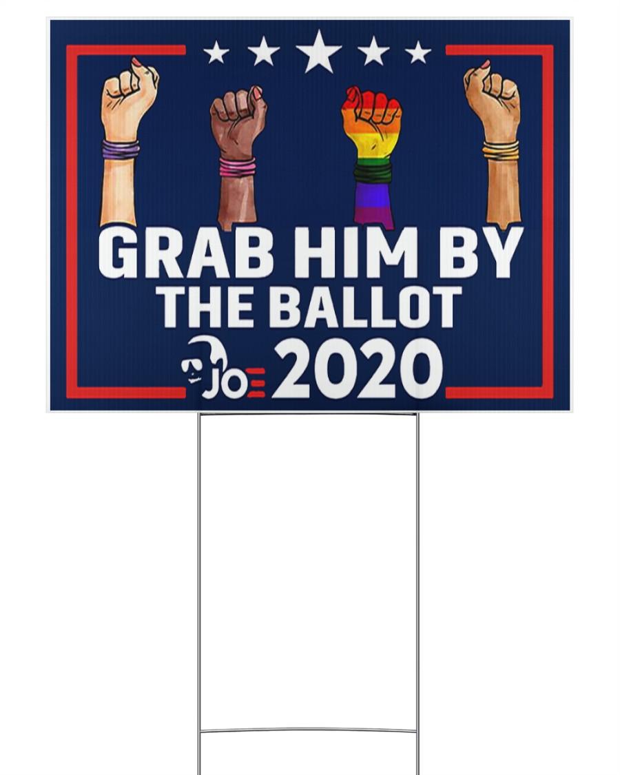 All skins grab him by the ballot yard sign 24x18 Yard Sign