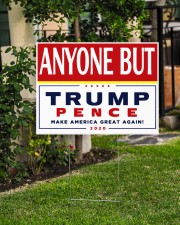 Anyone but Trump Pence 2020 24x18 Yard Sign aos-yard-sign-24x18-lifestyle-front-06