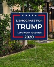 Democrats for Trump yard sign 24x18 Yard Sign aos-yard-sign-24x18-lifestyle-front-06