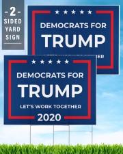 Democrats for Trump yard sign 24x18 Yard Sign aos-yard-sign-24x18-lifestyle-front-32