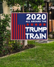 2020 all aboard the Trump train yard sign 24x18 Yard Sign aos-yard-sign-24x18-lifestyle-front-06