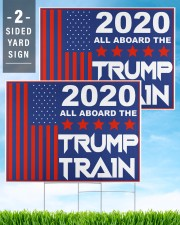 2020 all aboard the Trump train yard sign 24x18 Yard Sign aos-yard-sign-24x18-lifestyle-front-32