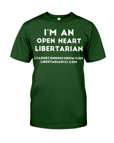 Open Heart Libertarian T-Shirt